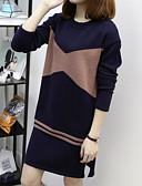 ieftine Rochii Maxi-Pentru femei Tricotaje Rochie Geometric Lungime Genunchi