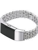 halpa Smartwatch-nauhat-Watch Band varten Fitbit Charge 2 Fitbit Perinteinen solki / Korudesign Ruostumaton teräs Rannehihna