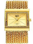 baratos Relógios de Pulseira-ASJ Mulheres Relógio Elegante Relógio de Pulso Japanês Quartzo 30 m Impermeável Novo Design Relógio Casual Cobre Banda Analógico Luxo Fashion Prata / Dourada - Prata Dourado