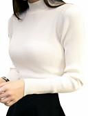 ieftine Tricou-Pentru femei Ieșire Bumbac Manșon Lung Zvelt Plover - Mată