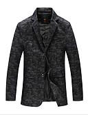ieftine Maieu & Tricouri Bărbați-Bărbați Zilnic Regular Blazer, Bloc Culoare Rever Clasic Manșon Lung Poliester Albastru piscină / Alb / Negru XXL / XXXL / 4XL