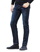 ieftine Pantaloni Bărbați si Pantaloni Scurți-Bărbați Talie Înaltă Zvelt Blugi Pantaloni Mată