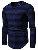 cheap Men's Sweaters & Cardigans-Men's Basic / Street chic Pullover - Striped