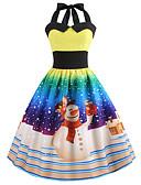 preiswerte Damen Kleider-Damen Retro / Elegant Swing Kleid - Druck, Geometrisch Knielang