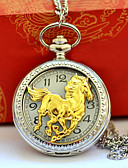 ieftine Maieu & Tricouri Bărbați-Bărbați Pentru cupluri Ceas de buzunar Quartz Ceas Casual Cool Aliaj Bandă Analog Vintage Casual Argint - Auriu