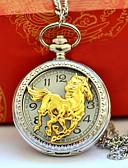 abordables Relojes de Bolsillo-Hombre Pareja Reloj de Bolsillo Cuarzo Reloj Casual Cool Aleación Banda Analógico Vintage Casual Plata - Dorado