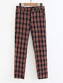 tanie Damskie spodnie-Damskie Podstawowy Typu Chino Spodnie - Kratka Czarny