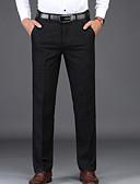 זול מכנסיים ושורטים לגברים-בגדי ריקוד גברים בסיסי חליפות מכנסיים - אחיד שחור / עבודה