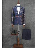 זול חליפות-מעוטר גזרה מחוייטת כותנה / פוליאסטר חליפה - פתוח צר Single Breasted One-button