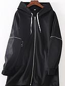 cheap Women's Hoodies & Sweatshirts-Women's Going out Cotton Loose Long Hoodie - Letter Black L