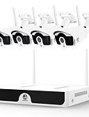 זול בלייזרים וחליפות לגברים-joan מערכת אלחוטית cctv 4ch 1080p מקליט וידאו cctv nvr 4 x 2.0mp wifi רשת מצלמות IP לילה טוב ראיית לילה