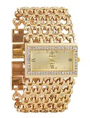 cheap Quartz Watches-Women's Bracelet Watch Diamond Watch Gold Watch Quartz Silver / Gold Calendar / date / day Chronograph Hollow Engraving Analog Ladies Luxury Fashion - Gold Silver One Year Battery Life