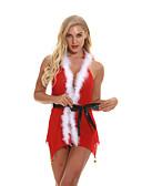 abordables Corsés y Strapless-Mujer Sexy Traje Ropa de dormir - Encaje, Navidad Un Color