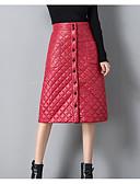 billige Ballkjoler-Kvinner går ut med midi pennkjørt - solid farget