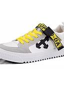 abordables Sudaderas de Hombre-Hombre Zapatos Confort PU Otoño Zapatillas de deporte Blanco / Negro / Beige