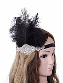 cheap Women's Headpieces-Women's Vintage / 1920s / The Great Gatsby Headband - Floral Black & White, Sequins
