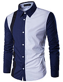 cheap Men's Shirts-Men's Active / Basic Shirt - Solid Colored / Color Block