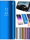 hesapli Cep Telefonu Kılıfları-Pouzdro Uyumluluk Xiaomi Xiaomi Pocophone F1 / Xiaomi Mi Max 3 / Xiaomi Mi 8 Satandlı / Ayna / Flip Tam Kaplama Kılıf Solid Sert PU Deri
