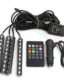 זול מגנים לטלפון-4pcs אופנוע / מכונית נורות תאורה 10 W SMD 5050 800 lm 9 LED אורות הפנים עבור אוניברסלי אוניברסלי כל השנים / אוניברסלי