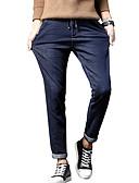 זול מכנסיים ושורטים לגברים-בגדי ריקוד גברים בסיסי / סגנון רחוב מידות גדולות כותנה רזה הארם / ג'ינסים מכנסיים - אחיד פול / אביב / סתיו