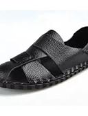 ราคาถูก ชุดสำหรับงานเลี้ยง-สำหรับผู้ชาย รองเท้าสบาย ๆ Microfibre ฤดูร้อน รองเท้าแตะ ขาว / สีดำ / สีน้ำตาล / กลางแจ้ง