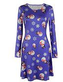 cheap Print Dresses-Women's Plus Size Christmas / Daily Basic Sheath Dress - Geometric Blue XXXL 4XL XXXXXL
