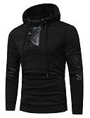 abordables Vestidos de Noche-Camiseta de algodón para hombre - color sólido con capucha