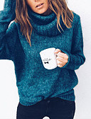 cheap Women's Sweaters-Women's Basic Pullover - Solid Colored
