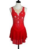 رخيصةأون التزلج على الجليد-تزلج على الجليد الفساتين أحمر عالية المرونة منافسة ملابس التزلج رياضة ثلجي / انحدار / تصميم تشريحي