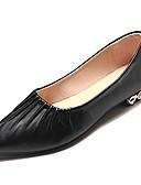 billige Skjorter til damer-Dame Komfort Sko PU Høst Fritid Flate sko Flat hæl Beige / Fuksia / Brun