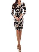 preiswerte Damen Nachtwäsche-Damen Anspruchsvoll Bodycon Kleid Geometrisch Übers Knie