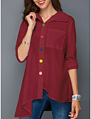 cheap Women's Blouses-Women's Street chic Shirt - Solid Colored