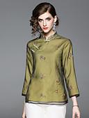 זול חליפות שני חלקים לנשים-פרחוני וינטאג' / סגנון סיני חולצה - בגדי ריקוד נשים רקום