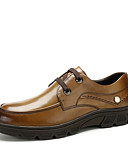 cheap Men's Tees & Tank Tops-Men's Formal Shoes Nappa Leather Fall Classic / British Oxfords Keep Warm Black / Brown