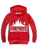 billige Hættetrøjer og sweatshirts til drenge-Børn Drenge Basale Trykt mønster Langærmet Polyester Hættetrøje og sweatshirt Rød