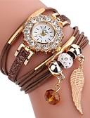 halpa Minihameet-Naisten Rannekello Diamond Watch Quartz Tikattu tekonahka Musta  / Valkoinen / Sininen  Arkikello jäljitelmä Diamond Analoginen naiset Muoti Tyylikäs - Ruskea Punainen Sininen Yksi vuosi Akun