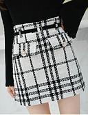 tanie Damska spódnica-damskie bawełniane mini spódnice typu line - houndstooth o wysokim talii