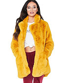 cheap Women's Fur & Faux Fur Coats-Long Sleeve Faux Fur Wedding / Party / Evening Women's Wrap With Solid Coats / Jackets