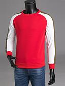 povoljno Muške majice i potkošulje-Muškarci Hlače - Color block Crn XXXL / Okrugli izrez / Dugih rukava