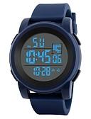זול שעונים דיגיטלים-בגדי ריקוד גברים שעוני ספורט Japanese דיגיטלי שחור / כחול 30 m עמיד במים Alarm לוח שנה דיגיטלי אופנתי - שחור כחול / כרונוגרף / שעון עצר / זוהר בחושך