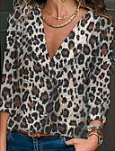 billige Romantiske blonder-Dame - Leopard Basale Bluse