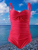 tanie Bikini i odzież kąpielowa 2017-Damskie Pasek Czarny Czerwony Granatowy Majtki Jednoczęściowy Stroje kąpielowe - Solidne kolory L XL XXL