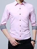 billige Herreskjorter-Skjorte Herre - Ensfarget Grunnleggende