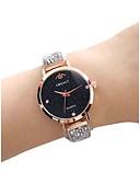Недорогие Цветочные часы-Жен. Наручные часы Diamond Watch Кварцевый Черный / Золотистый / Розовое золото 30 m Защита от влаги Имитация Алмазный Аналоговый Дамы Винтаж Мода -