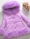 billige Hettegensere og gensere til gutter-Barn / Baby Jente Grunnleggende Ensfarget Ermeløs Fuskepels Vest Rosa