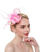 baratos Headpieces Femininos-Mulheres Vintage / Elegante Bandana / Presilha de Cabelo / Fascinador - Flor / Com Transparência Sólido