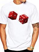 お買い得  メンズTシャツ&タンクトップ-男性用 スポーツ - プリント Tシャツ ベーシック ラウンドネック グラフィック コットン ルービックキューブ