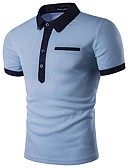 tanie Męskie koszulki polo-Polo Męskie Aktywny Solidne kolory