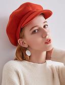 abordables Sombreros de mujer-Mujer Boina Francesa / Bombín / Cloche / Sombrero Fedora - Vintage / Fiesta Un Color