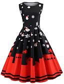 tanie Print Dresses-Damskie Elegancja Spodnie - Solidne kolory / Geometric Shape Wysoka talia Czarny / Impreza / Seksowny